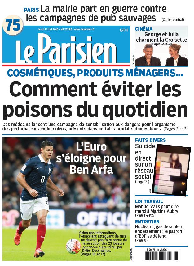 Le Parisien + Journal de Paris du Jeudi 12 Mai 2016