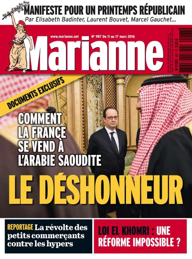 Marianne 987 - 11 au 17 Mars 2016