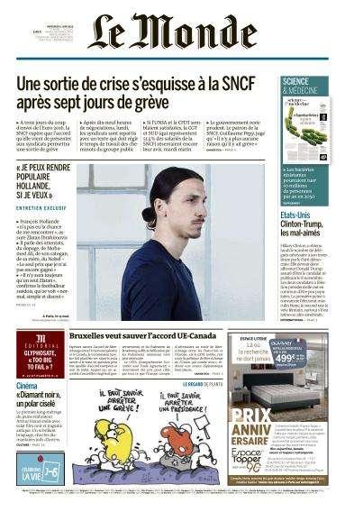 Le Monde du Mercredi 8 Juin 2016