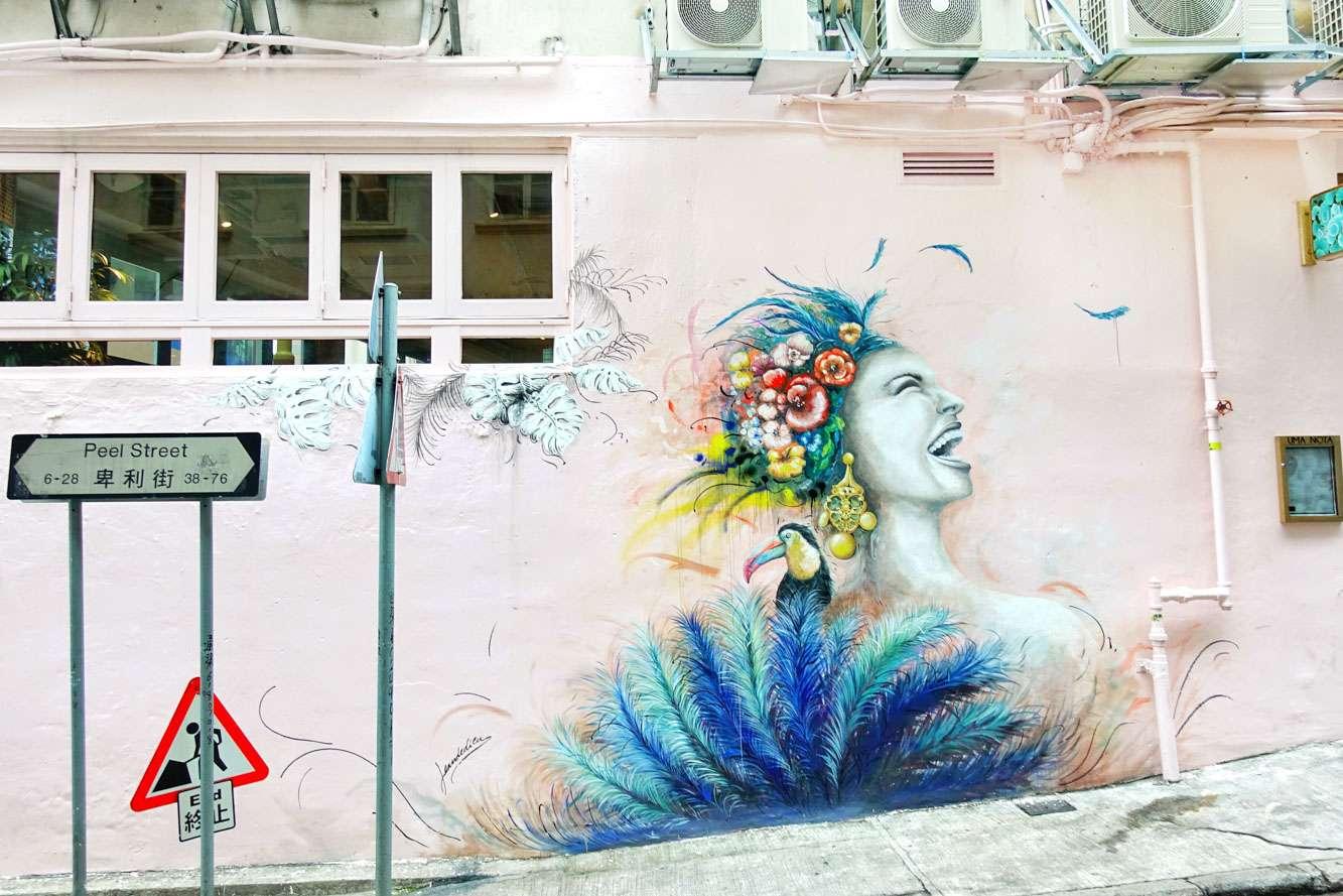 Peel Street, Hong Kong Street Art