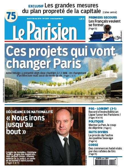 Le Parisien + Journal de Paris du Jeudi 4 Février 2016