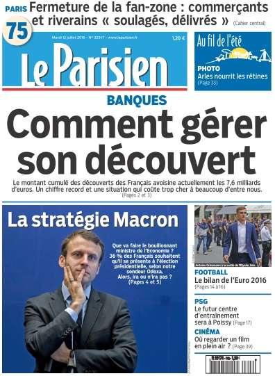 Le Parisien du Mardi 12 Juillet 2016