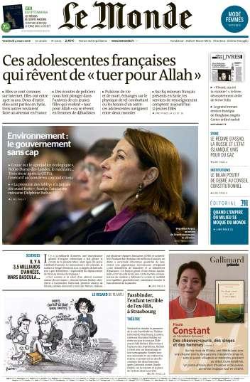 Le Monde du Vendredi 4 Mars 2016