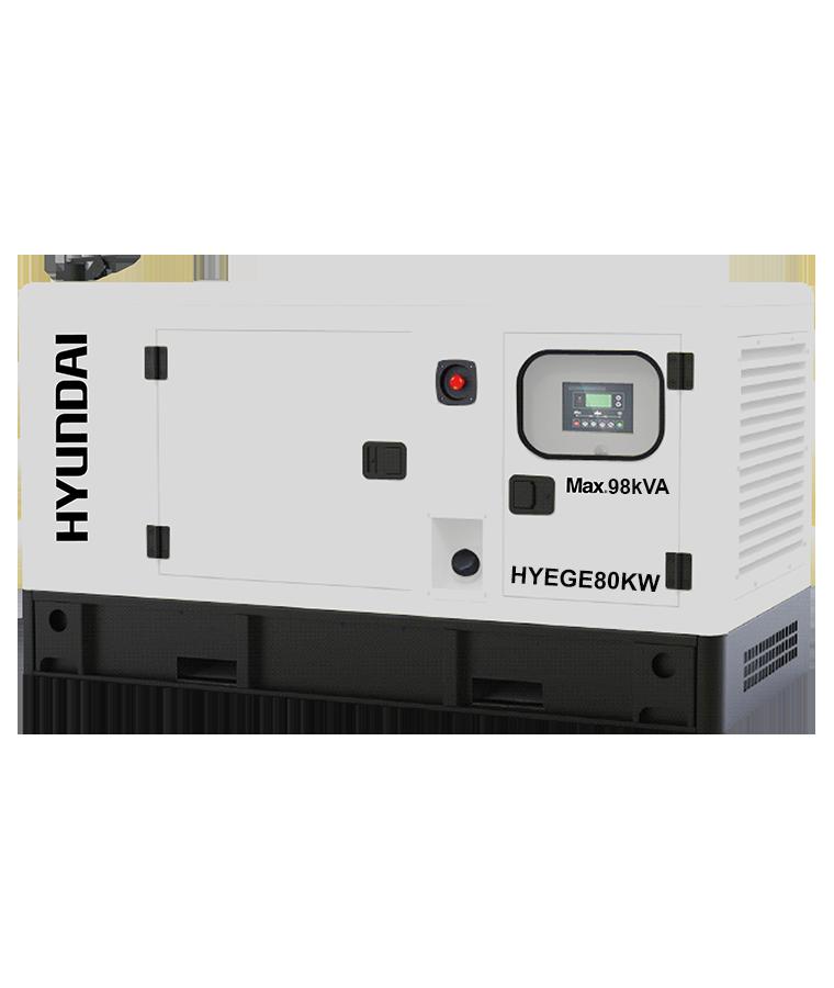 Generador Hyundai 80KW  con Motor a Diesel 140 HP  220/440V