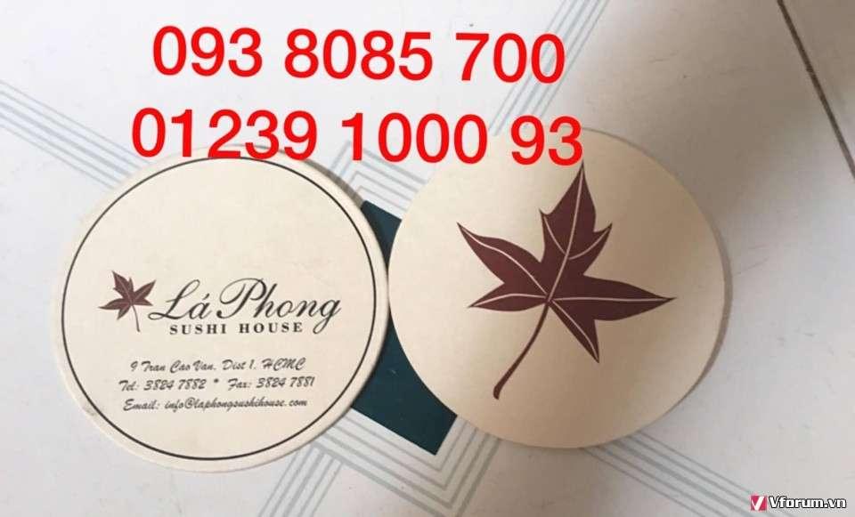 Làm lót ly in và thêu logo theo yêu cầu, nơi làm lót ly giá rẻ, lót ly nỉ, nhựa PVC, lót ly giấy