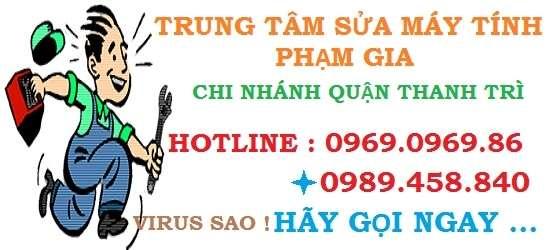 sửa máy tính tại nhà quận Thanh Trì
