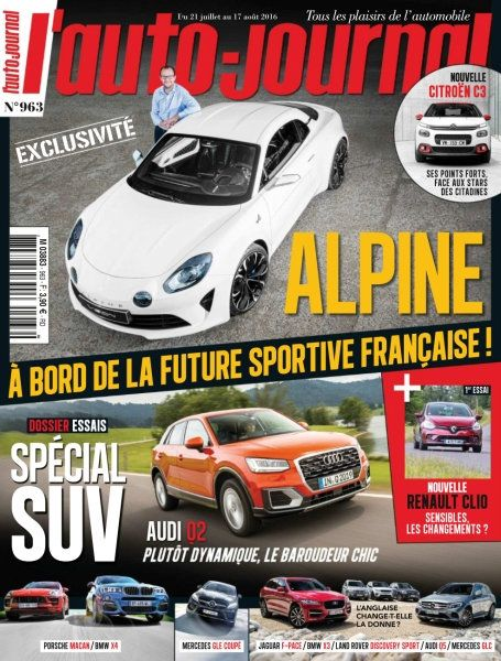 L'Auto-Journal 963 du 21 Juillet 2016