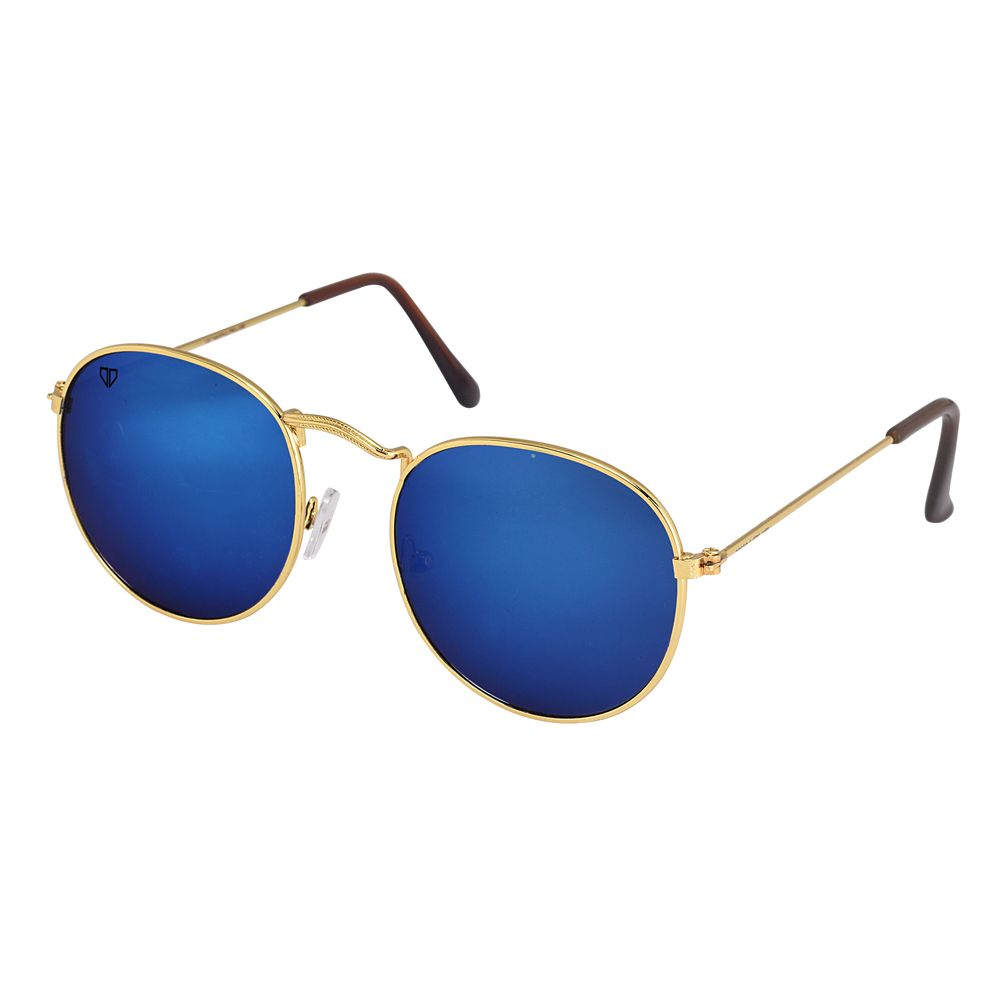 Walrus Royal Blue Mirror Color Unisex Oval Sunglass- WS-RYL-II-200606