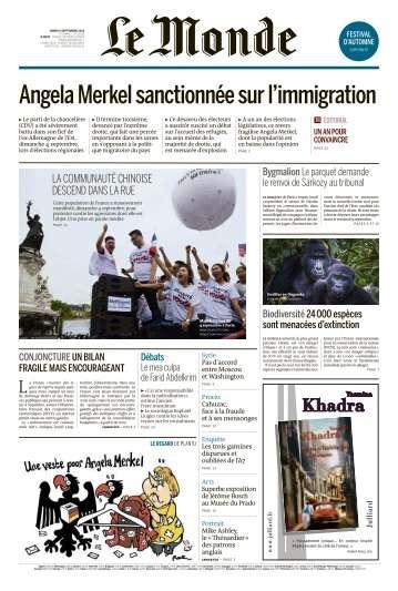 Le Monde du Mardi 6 Septembre 2016