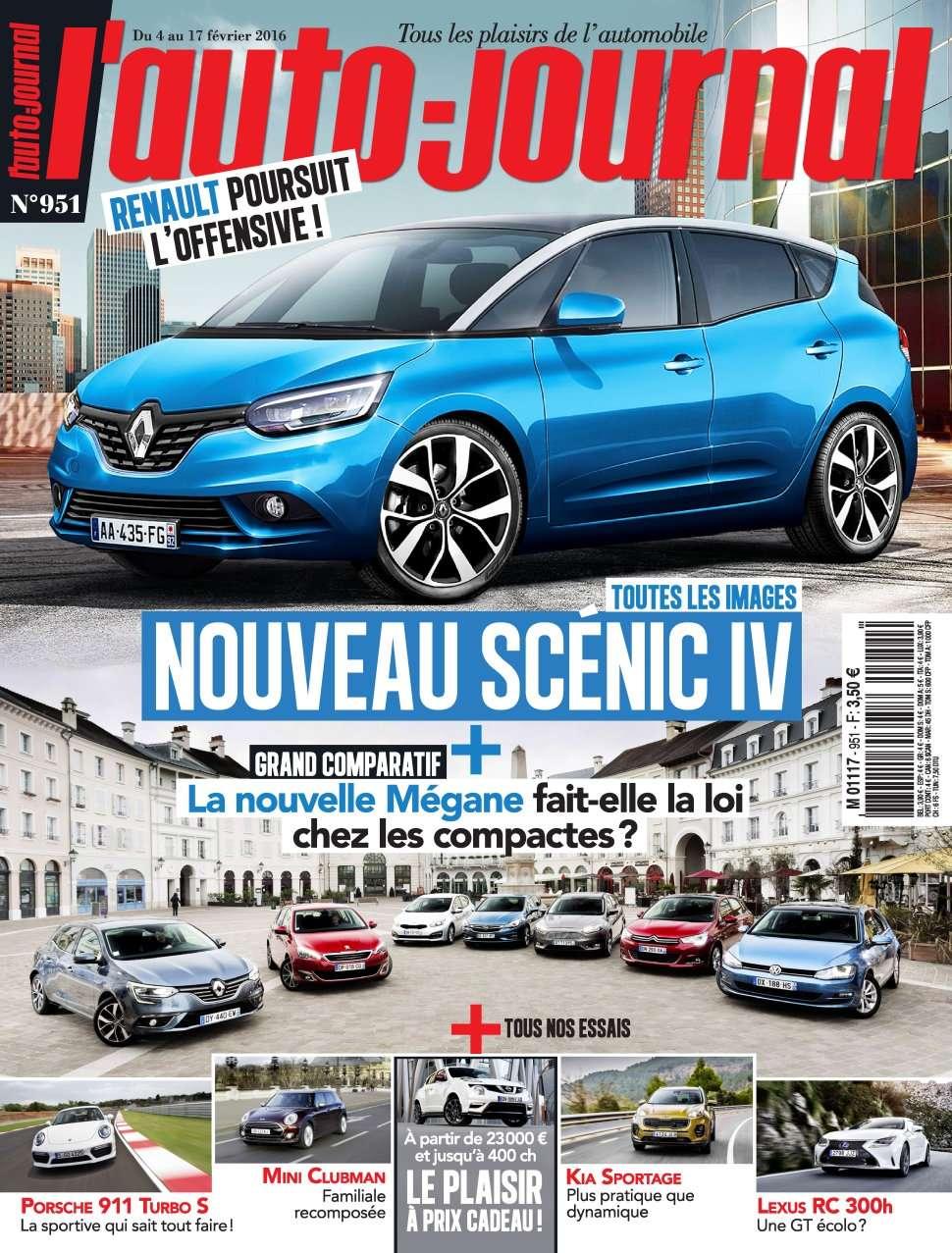 L'Auto-Journal 951 - 4 au 17 Février 2016