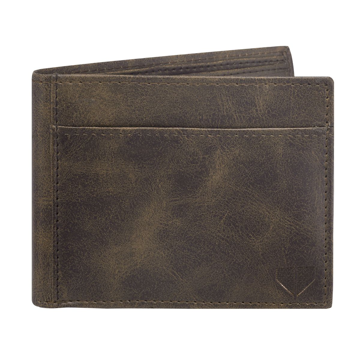 Walrus David Brown & Blue Color Genuine Leather Men Wallet (WW-DVD-0903)