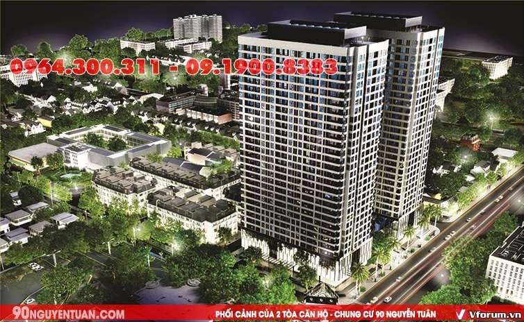Chung cư 90 Nguyễn Tuân có vị trí đẹp và thuân lợi