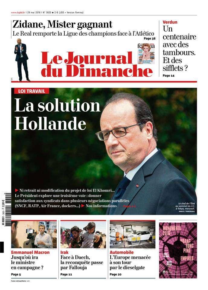 Le Journal du Dimanche 3620 - 29 Mai 2016