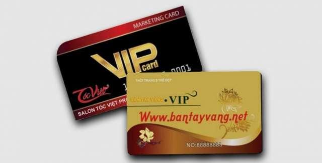 In thẻ VIP, in thẻ nhựa theo lộ trình tiêu chuẩn