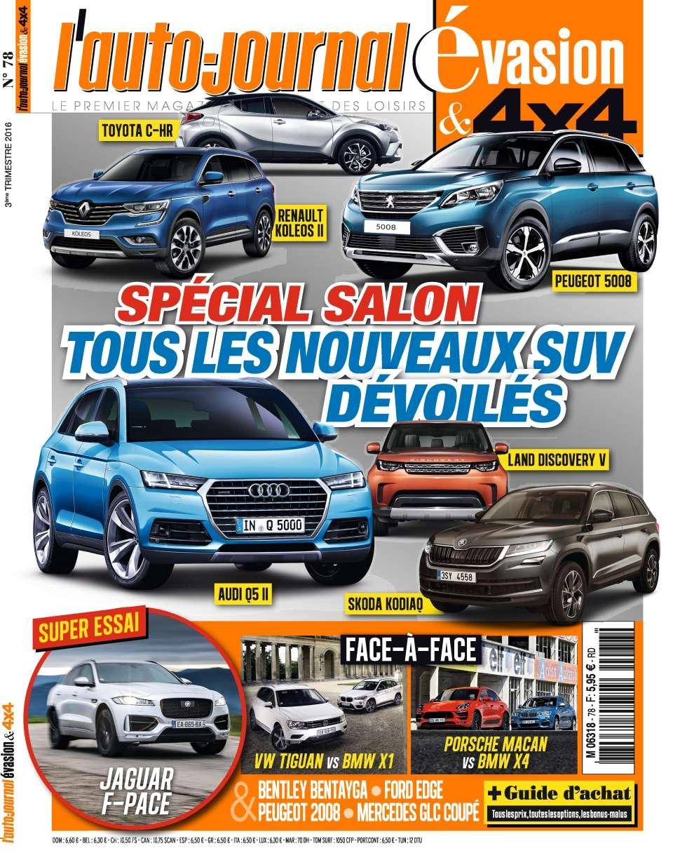 L'Auto-Journal 4x4 N°78 - 3ème Trimestre 2016