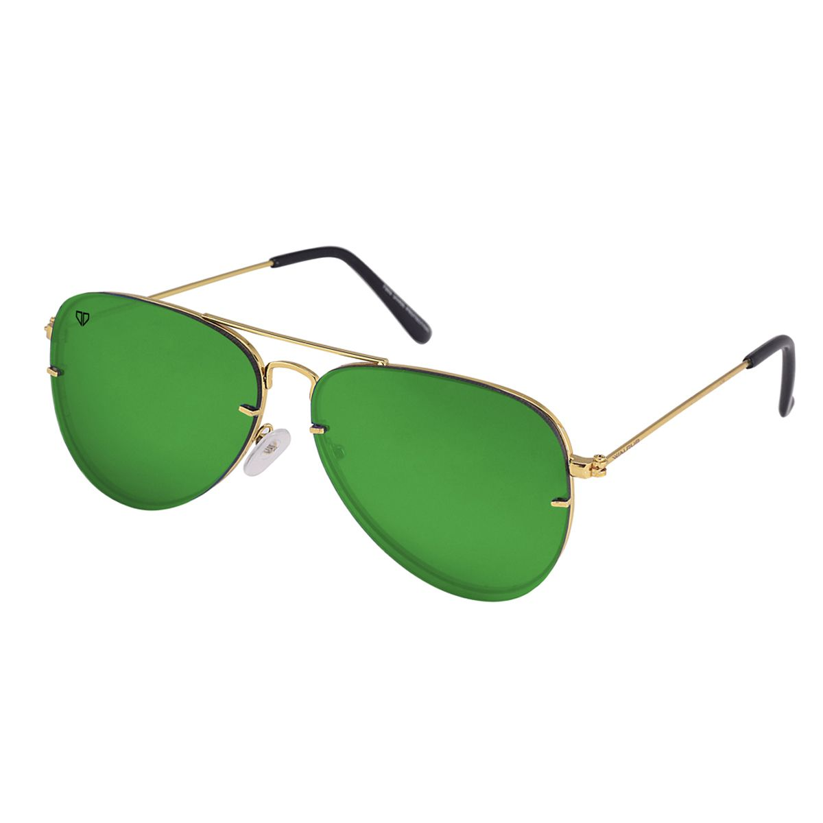 Walrus Noah Green Color Unisex Aviator Sunglass- WS-NOAH-040606