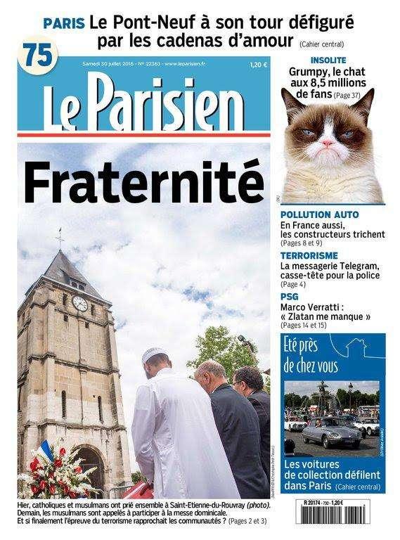Le Parisien et Journal de Paris du Samedi 30 Juillet 2016