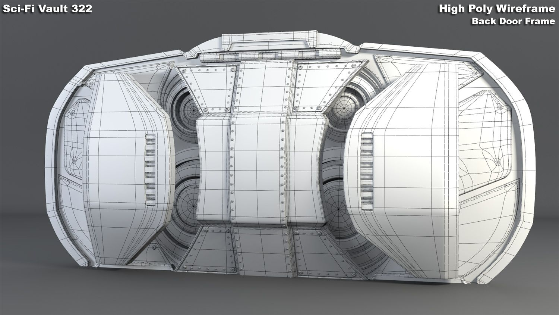 josh flores i cg artist i 3d modeling sci fi vault 322 high poly rh cgflores com Sci-Fi Backgrounds Sci-Fi Backgrounds