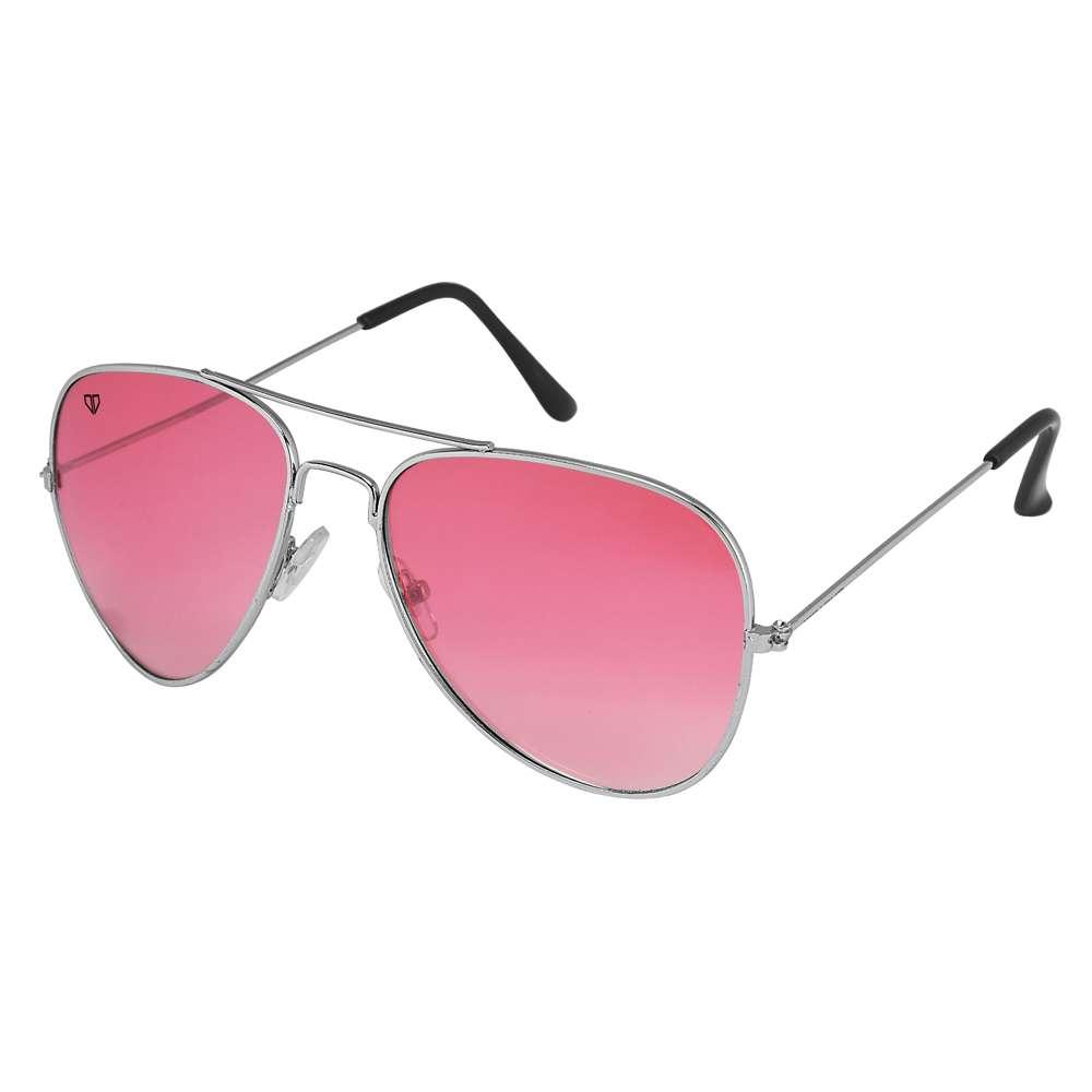 Walrus John Maroon/Pink Color Unisex Aviator Sunglass - WS-JOHN-120707