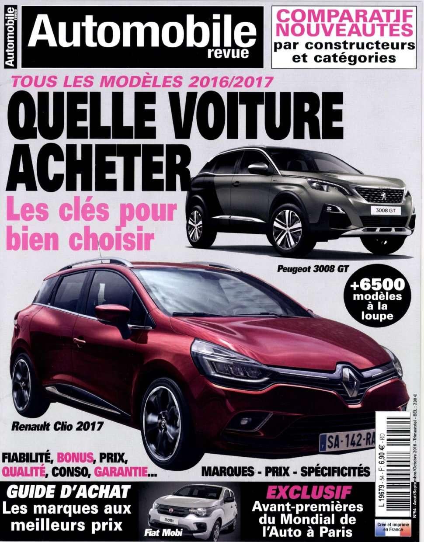 Automobile Revue 54 - Aout/Octobre 2016