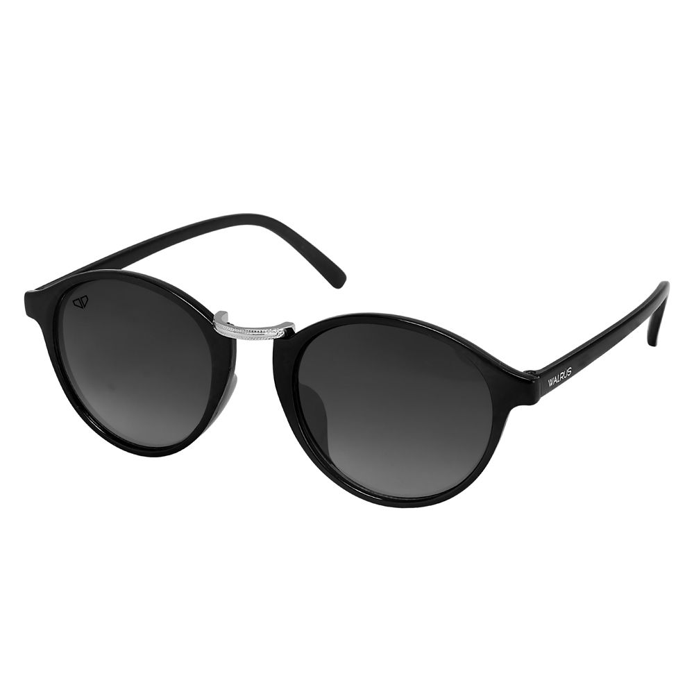 Walrus James Black Color Unisex Oval Sunglass - WS-JAMES-II-020207