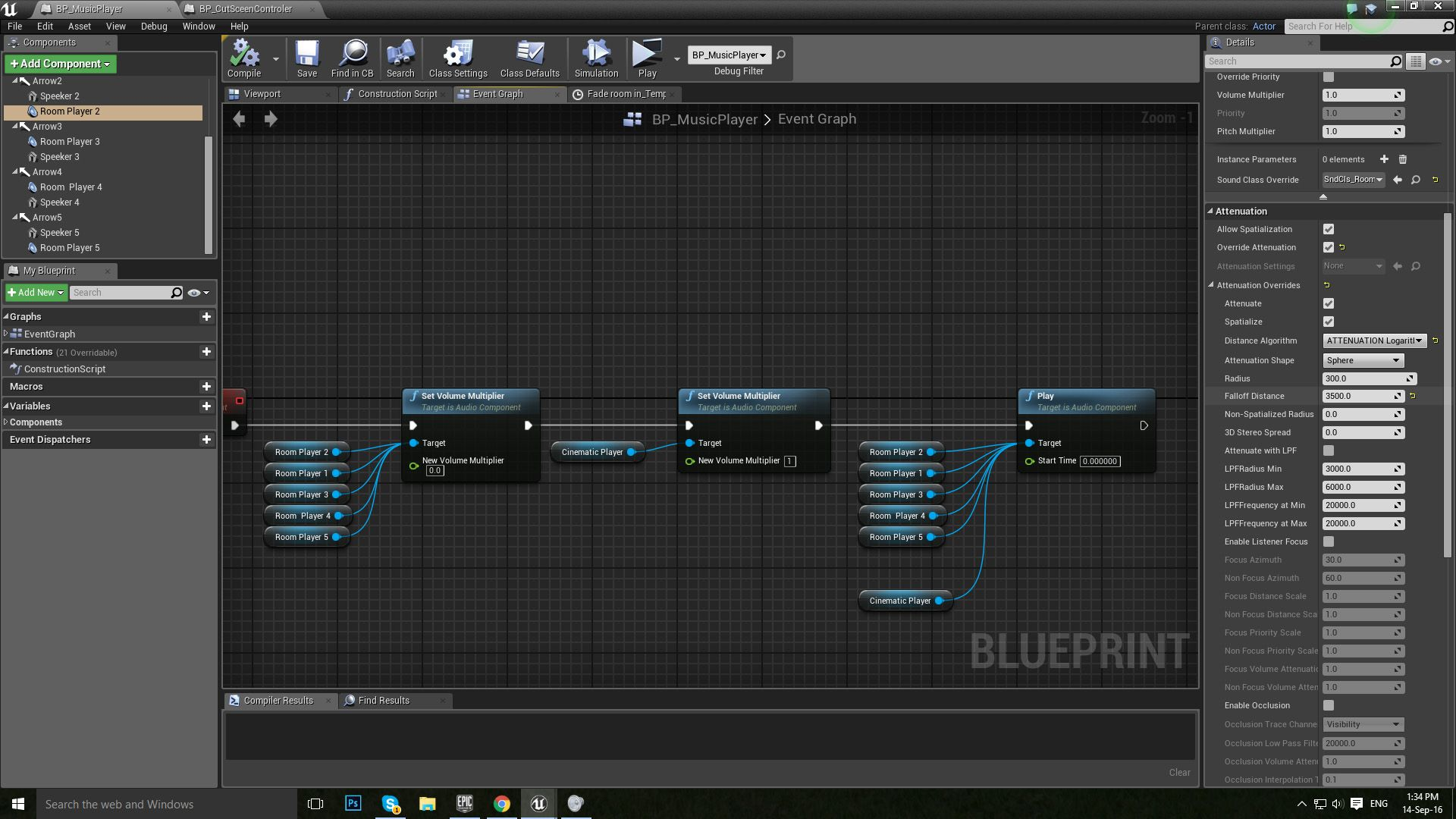 413 audio spatialization problem ue4 answerhub ive probably just missed a check box somewhere here is a screen shot of my blueprint malvernweather Image collections