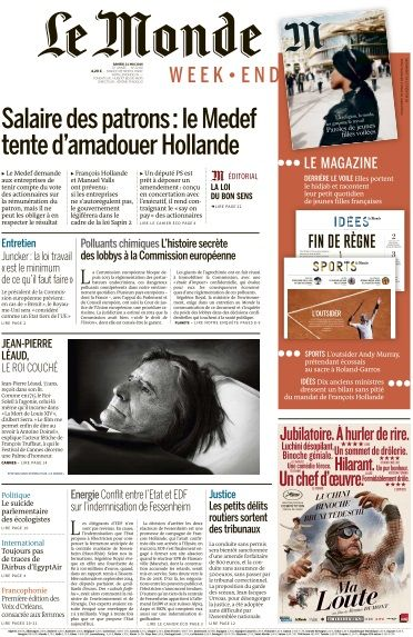 Le Monde du Samedi 21 Mai 2016