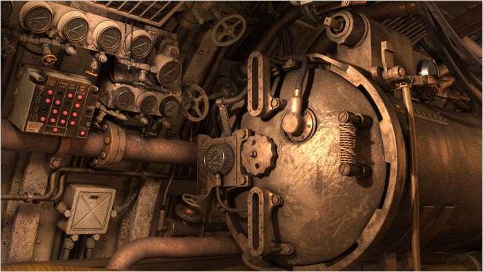 U.S.S. Cavalla Engine Room