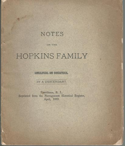 Notes on the Hopkins family : genealogical and biographical