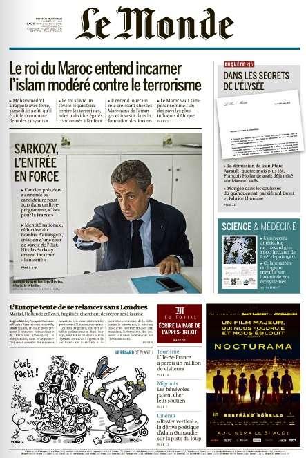 Le Monde du Mercredi 24 Août 2016