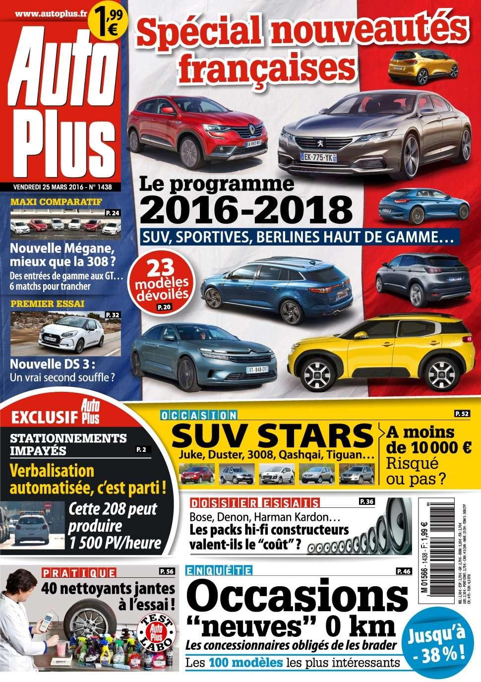 Auto Plus 1438 - 25 au 31 Mars 2016