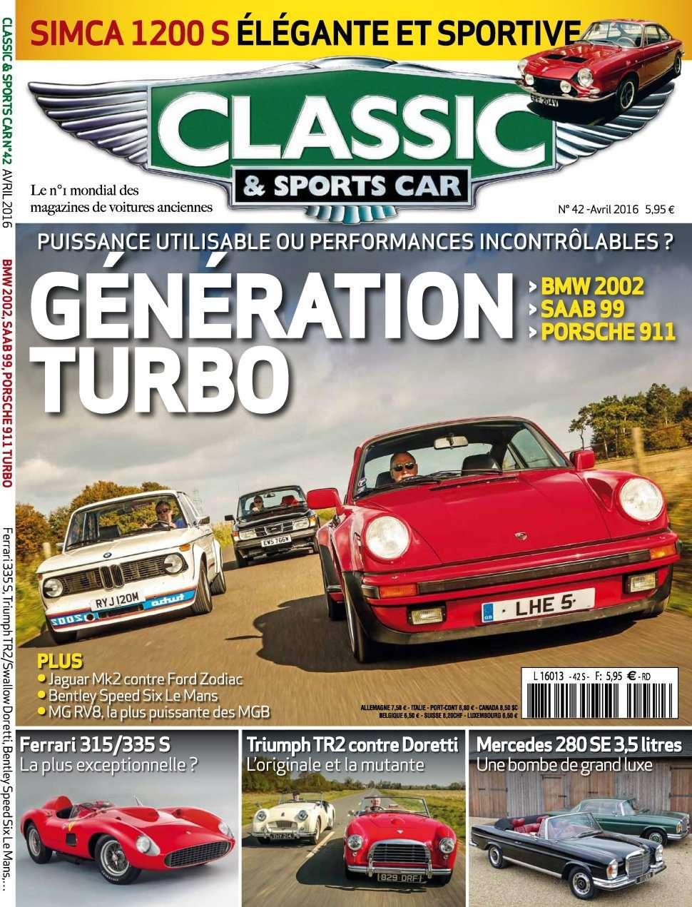 Classic & Sports Car 42 - Avril 2016
