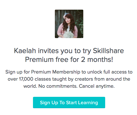 Try Skillshare For Free For 2 Months!