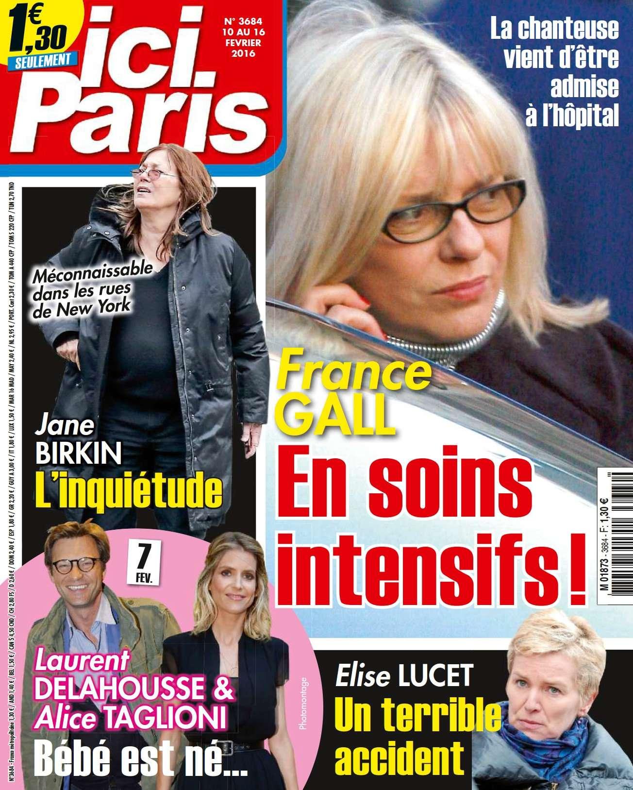 Ici Paris 3684 - 10 au 16 Février 2016