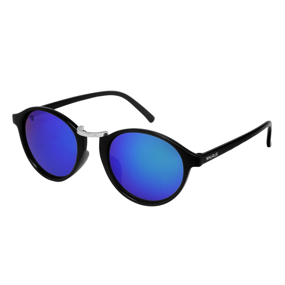 Walrus James Blue Mirror Color Unisex Oval Sunglass - WS-JAMES-200207