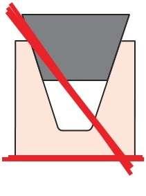 Pasek klinowy za duży lub wyżłobienie w kole pasowym jest zbyt małe