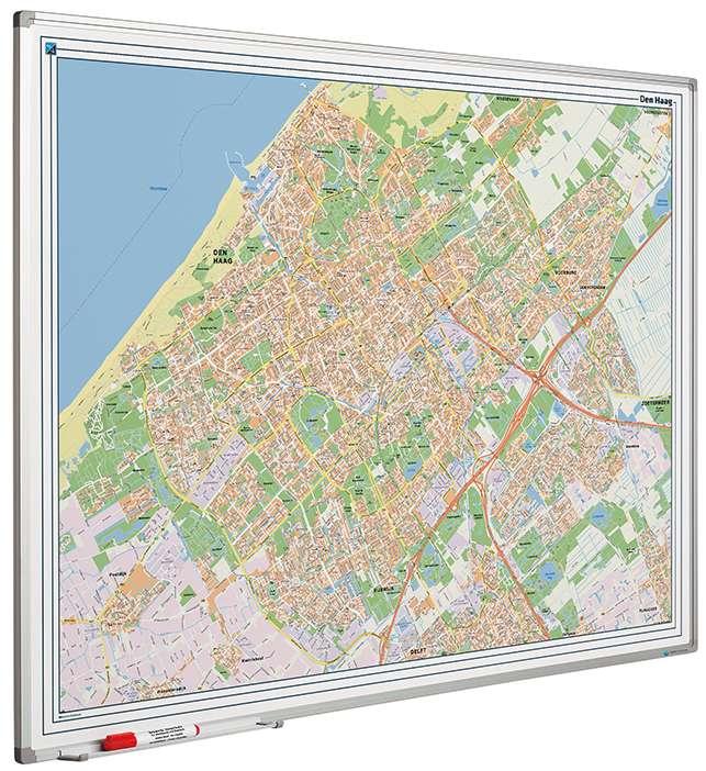 Photo: Landkaart bord Softline profiel 8mm, Den Haag