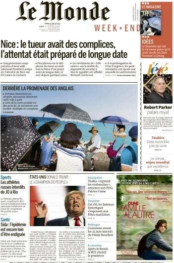 Le Monde du Samedi 23 Juillet 2016