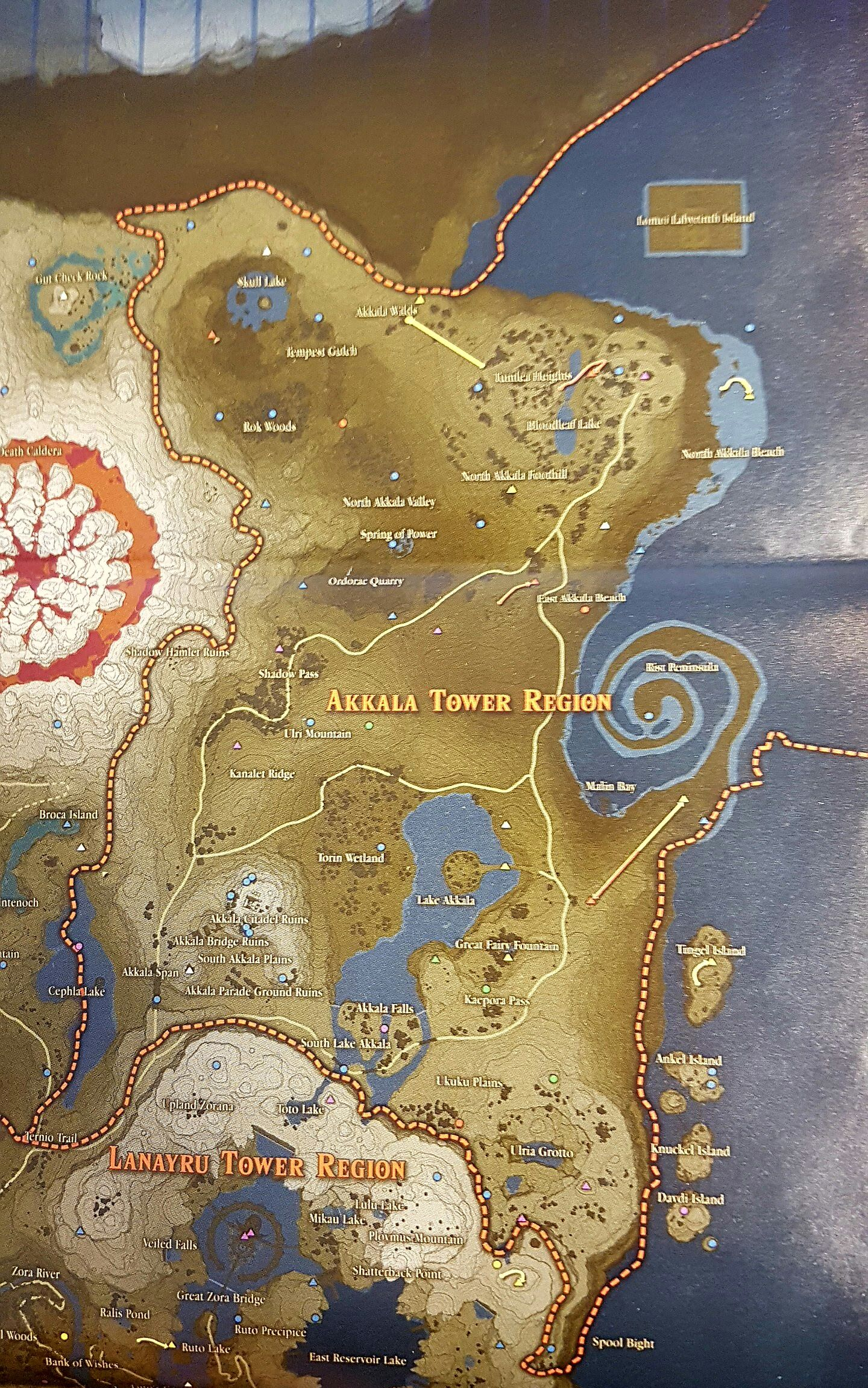 picture relating to Printable Korok Seed Map known as Finish Korok map scans - The Legend of Zelda: Breath of the