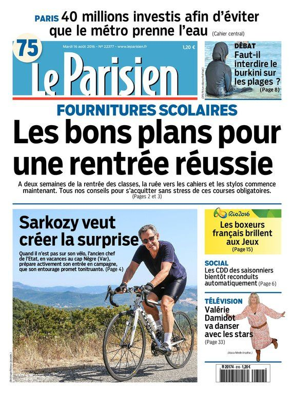 Le Parisien et Journal de Paris du Mardi 16 Aout 2016