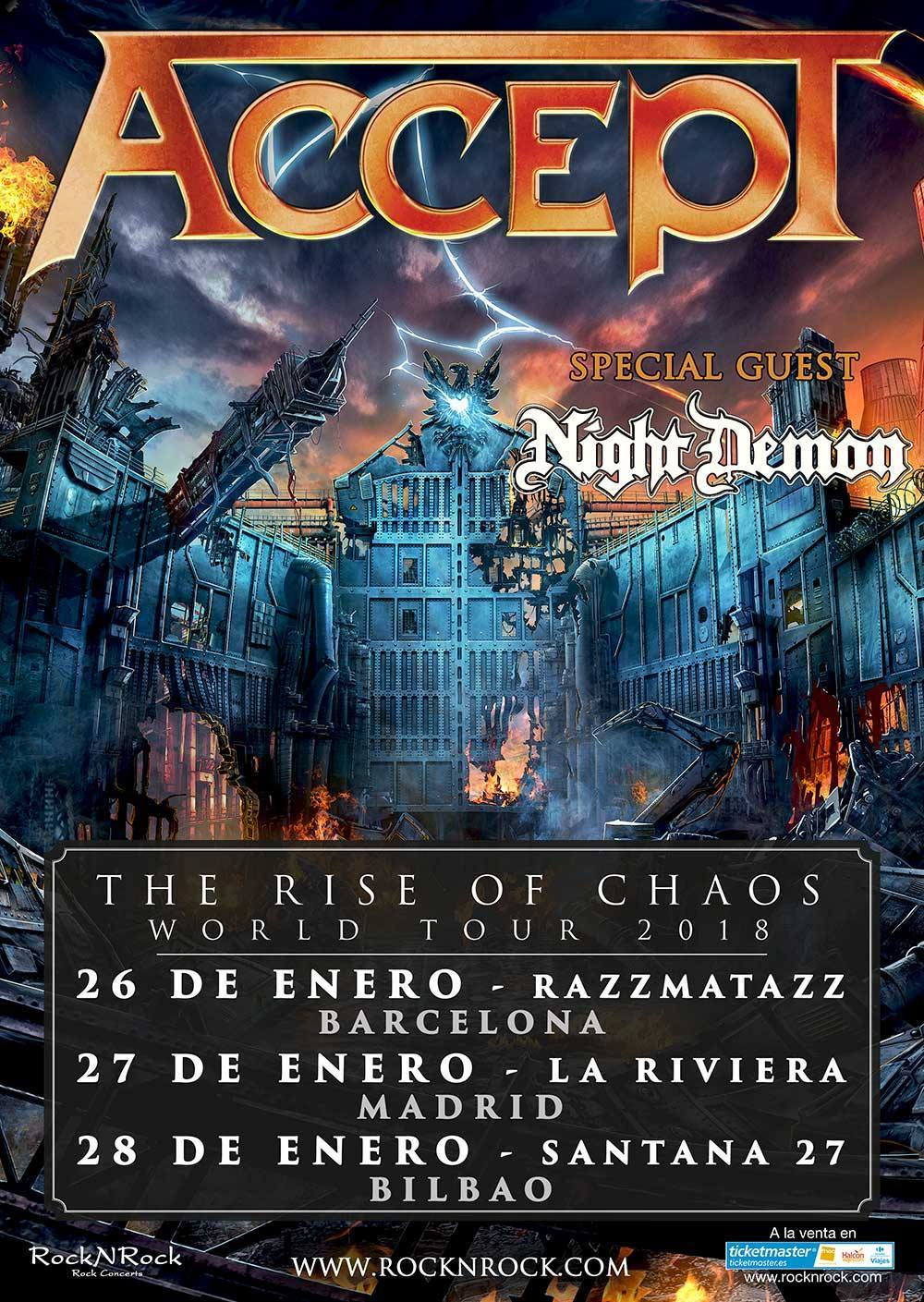 Accept - Spanish Tour 2018