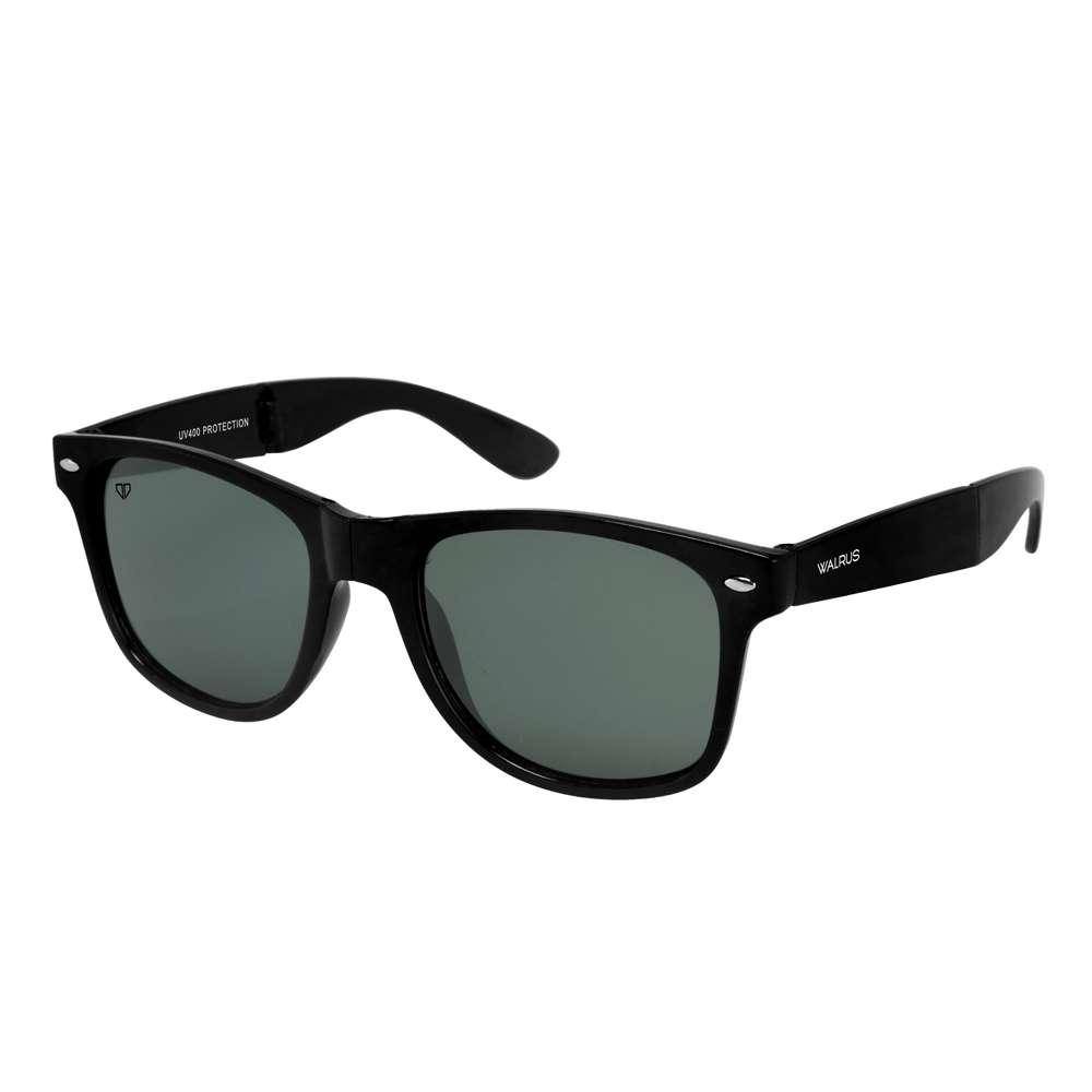 Walrus Flex Black Color Unisex Wayfarer Sunglass - WS-FLX-020202