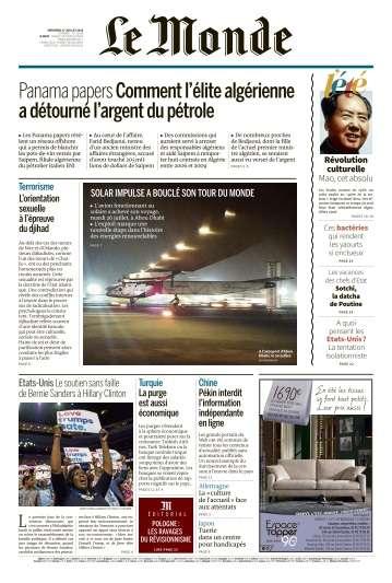 Le Monde du Mercredi 27 Juillet 2016