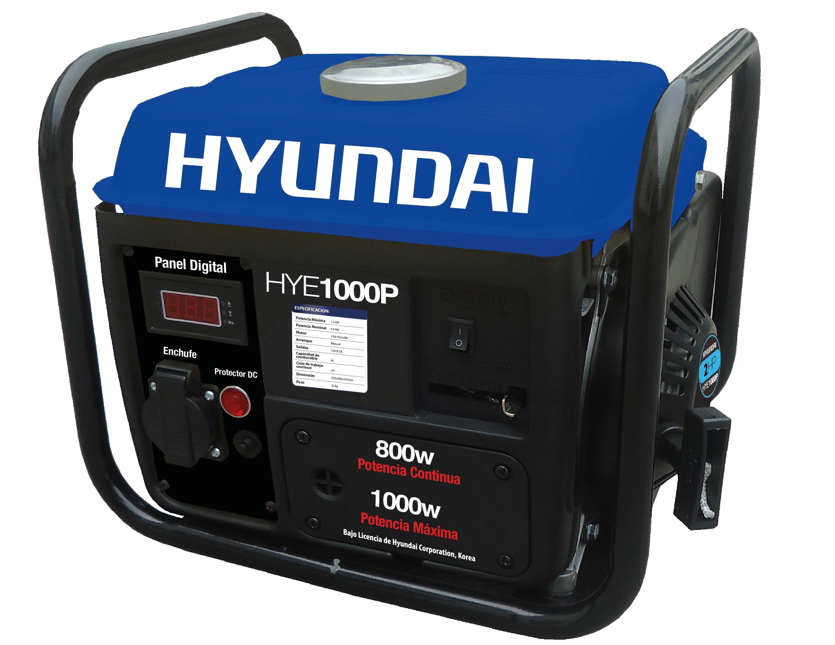 Generador A Gasolina Hyundai Portatil 1000watts HYE1000P