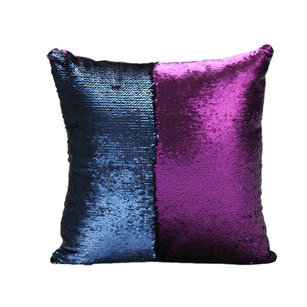 hot double sequin mermaid color cushion cover sofa bed cushion cover pillow case ebay. Black Bedroom Furniture Sets. Home Design Ideas