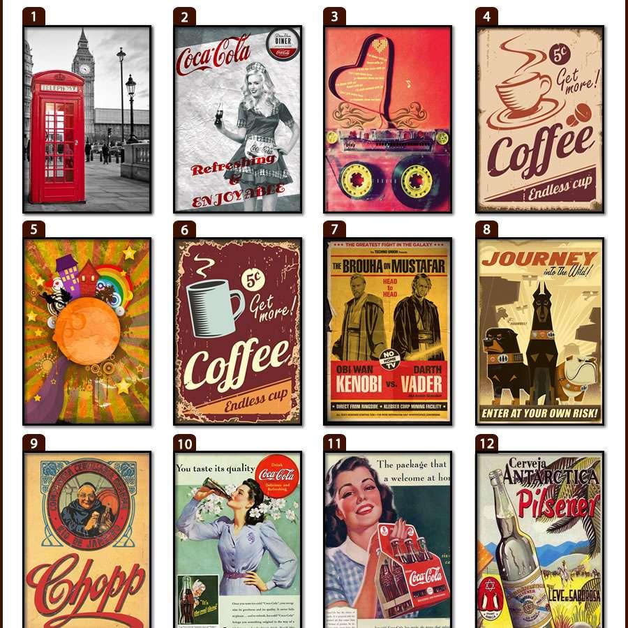 Placas, Vintage, Retro, Cerveja, Decoração, Antigas, MDF, Demetrius, Hot Rod, Rota 66