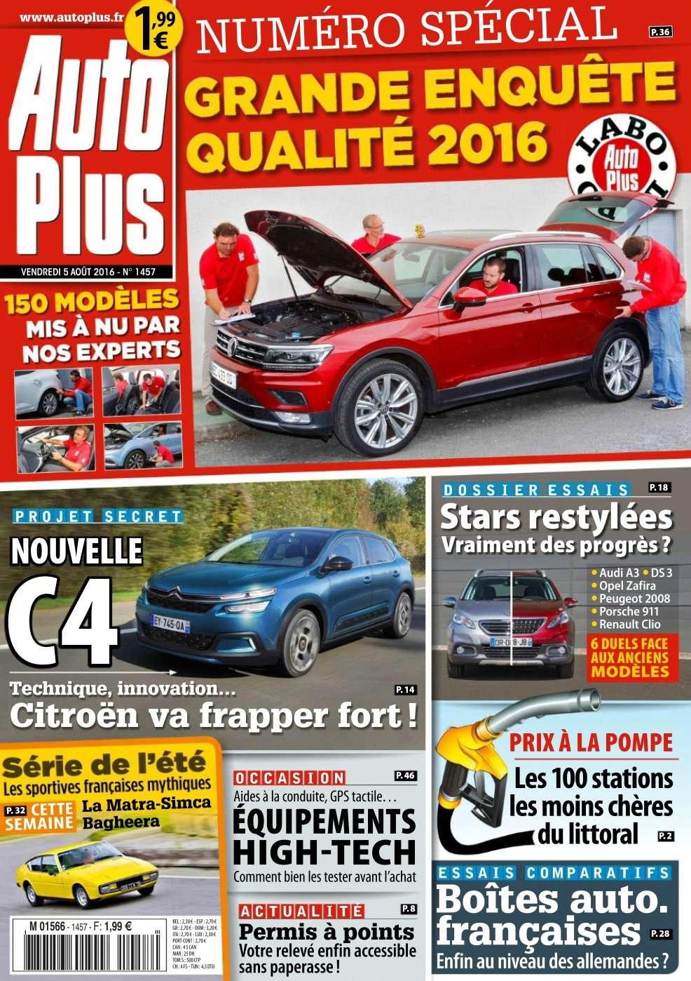 Auto Plus 1457 - 05 au 11 Août 2016