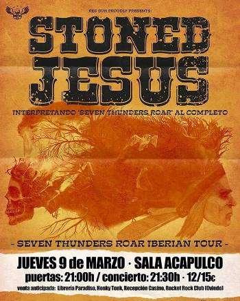 Stoned Jesus - cartel Gijón