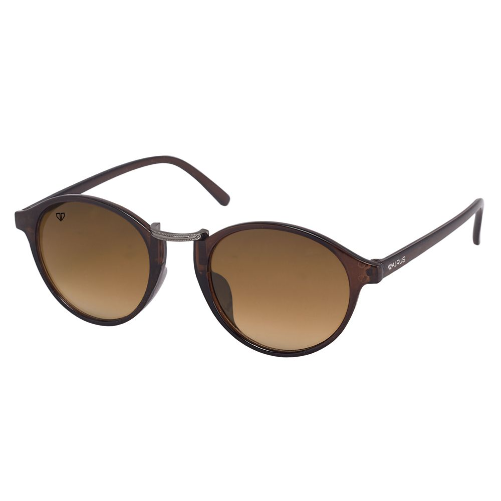 Walrus James Brown Color Unisex Oval Sunglass - WS-JAMES-II-090918