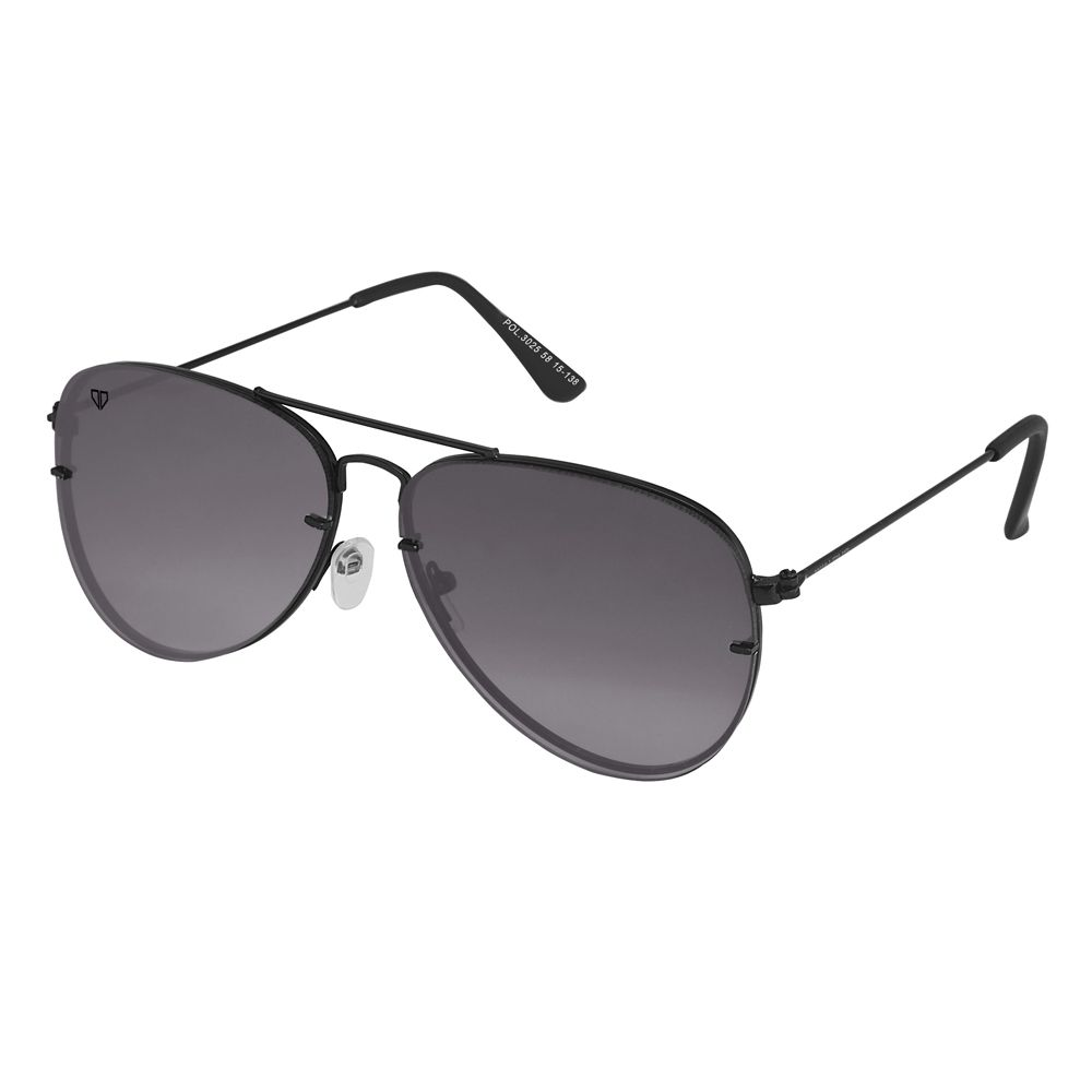 Walrus Noah Black Color Unisex Aviator Sunglass - WS-NOAH-020202